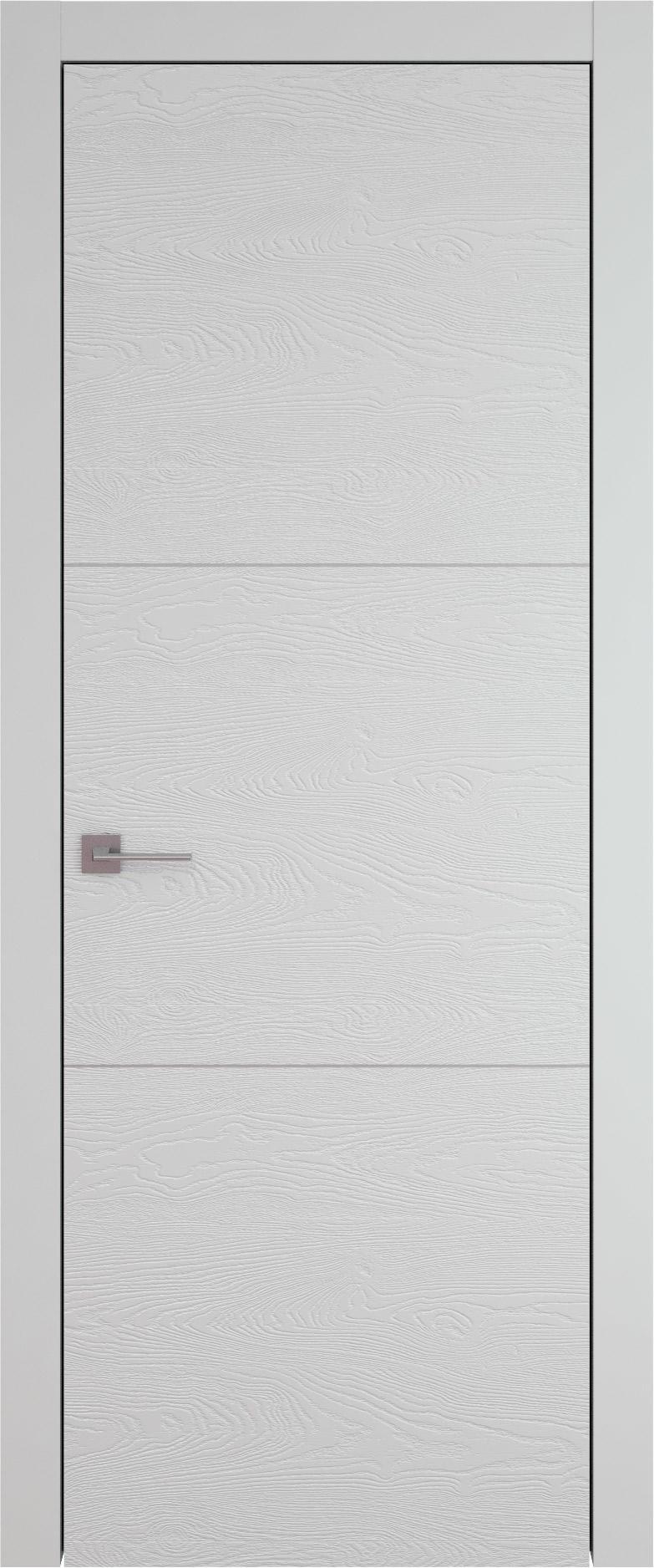 Tivoli В-3 цвет - Серая эмаль по шпону (RAL 7047) Без стекла (ДГ)