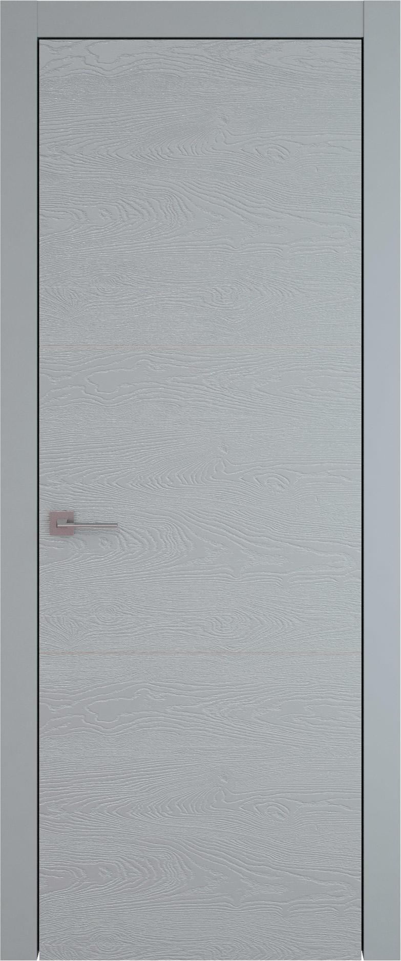 Tivoli В-3 цвет - Серебристо-серая эмаль по шпону (RAL 7045) Без стекла (ДГ)