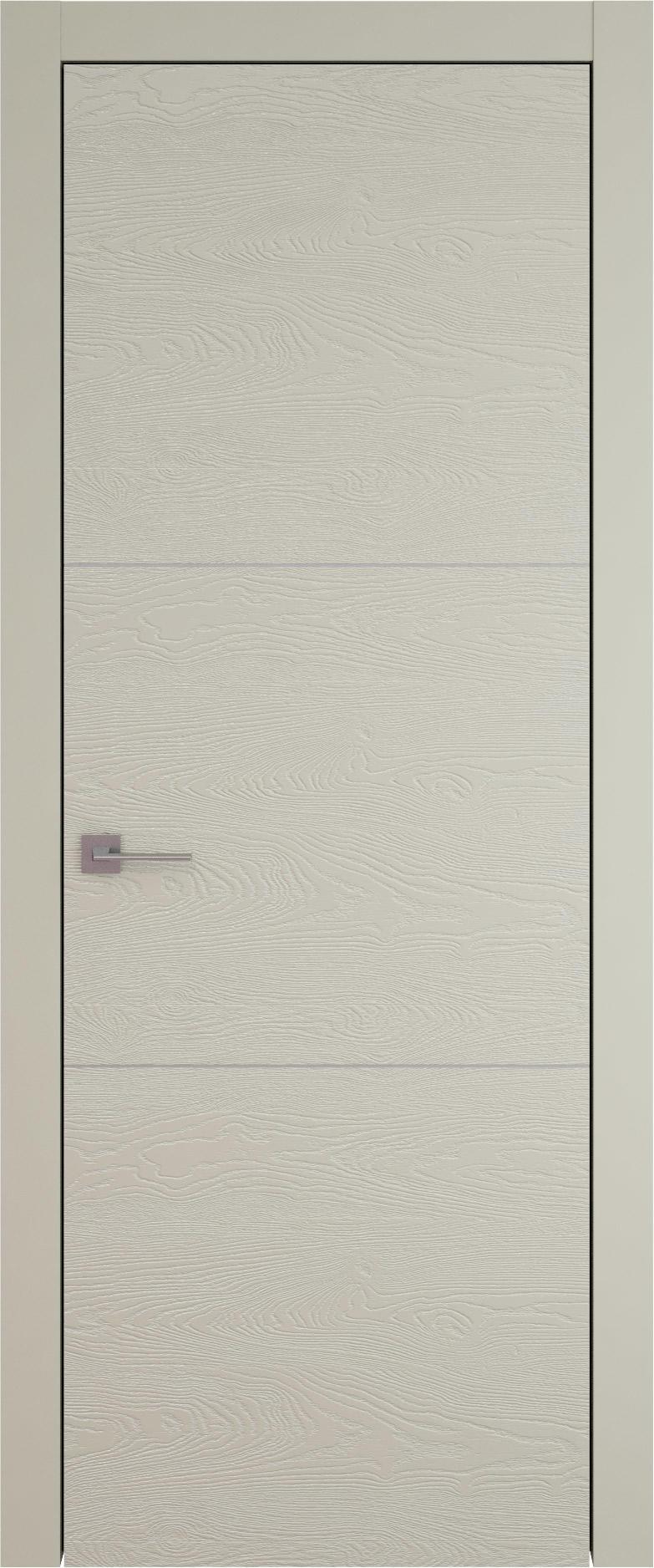 Tivoli В-3 цвет - Серо-оливковая эмаль по шпону (RAL 7032) Без стекла (ДГ)