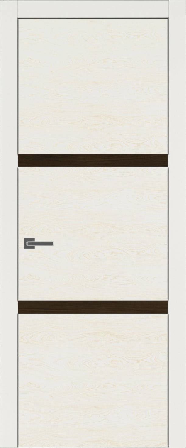 Tivoli В-4 цвет - Бежевая эмаль по шпону (RAL 9010) Без стекла (ДГ)