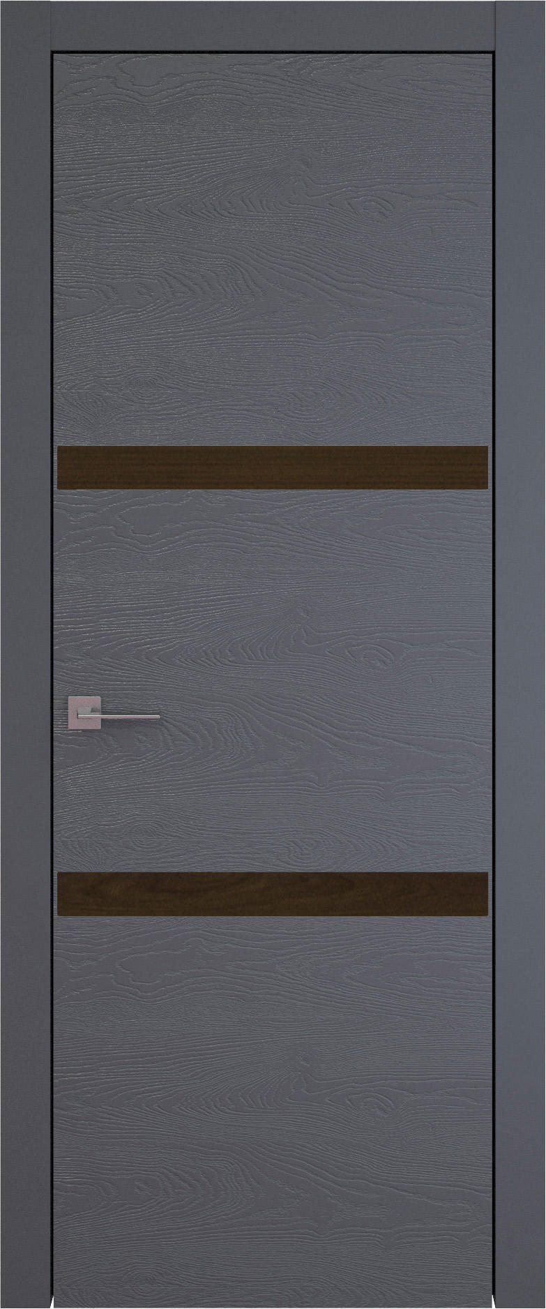 Tivoli В-4 цвет - Графитово-серая эмаль по шпону (RAL 7024) Без стекла (ДГ)
