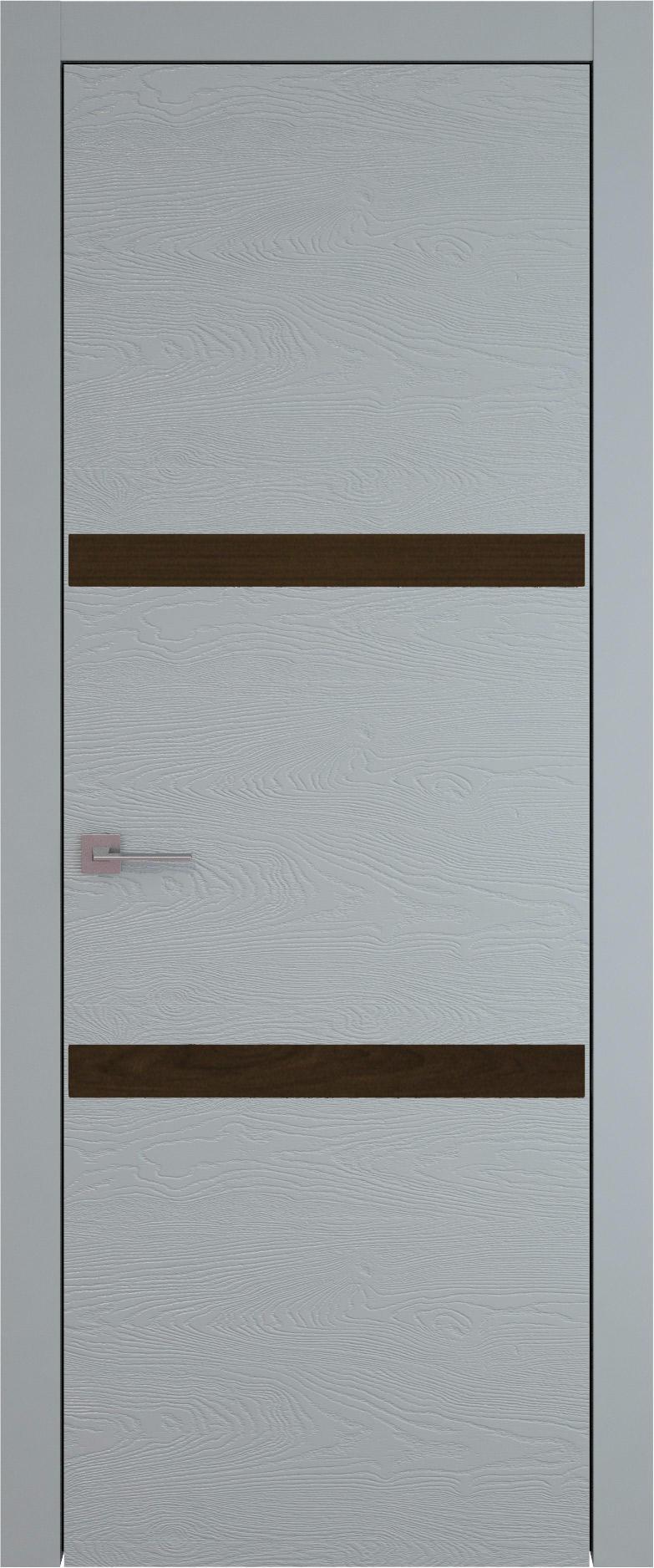Tivoli В-4 цвет - Серебристо-серая эмаль по шпону (RAL 7045) Без стекла (ДГ)