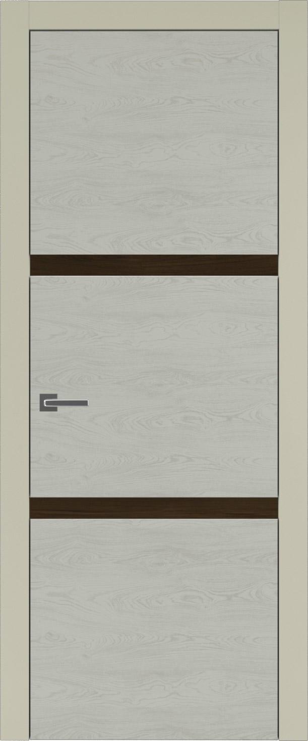 Tivoli В-4 цвет - Серо-оливковая эмаль по шпону (RAL 7032) Без стекла (ДГ)