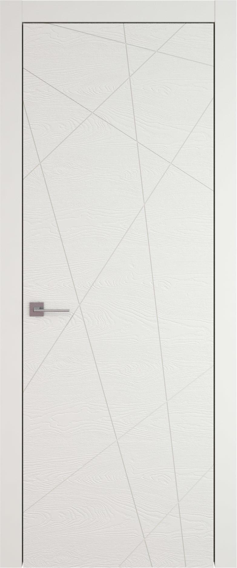 Tivoli В-5 цвет - Бежевая эмаль по шпону (RAL 9010) Без стекла (ДГ)