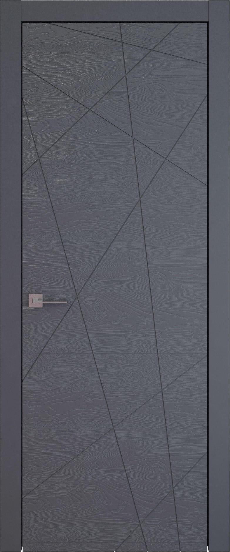 Tivoli В-5 цвет - Графитово-серая эмаль по шпону (RAL 7024) Без стекла (ДГ)