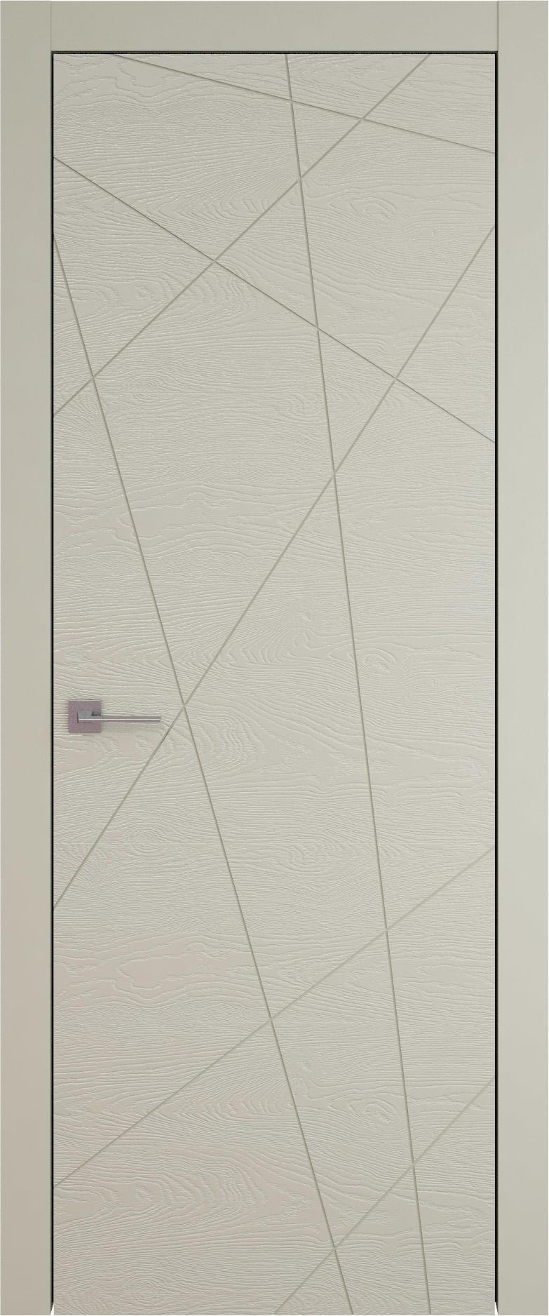 Tivoli В-5 цвет - Серо-оливковая эмаль по шпону (RAL 7032) Без стекла (ДГ)