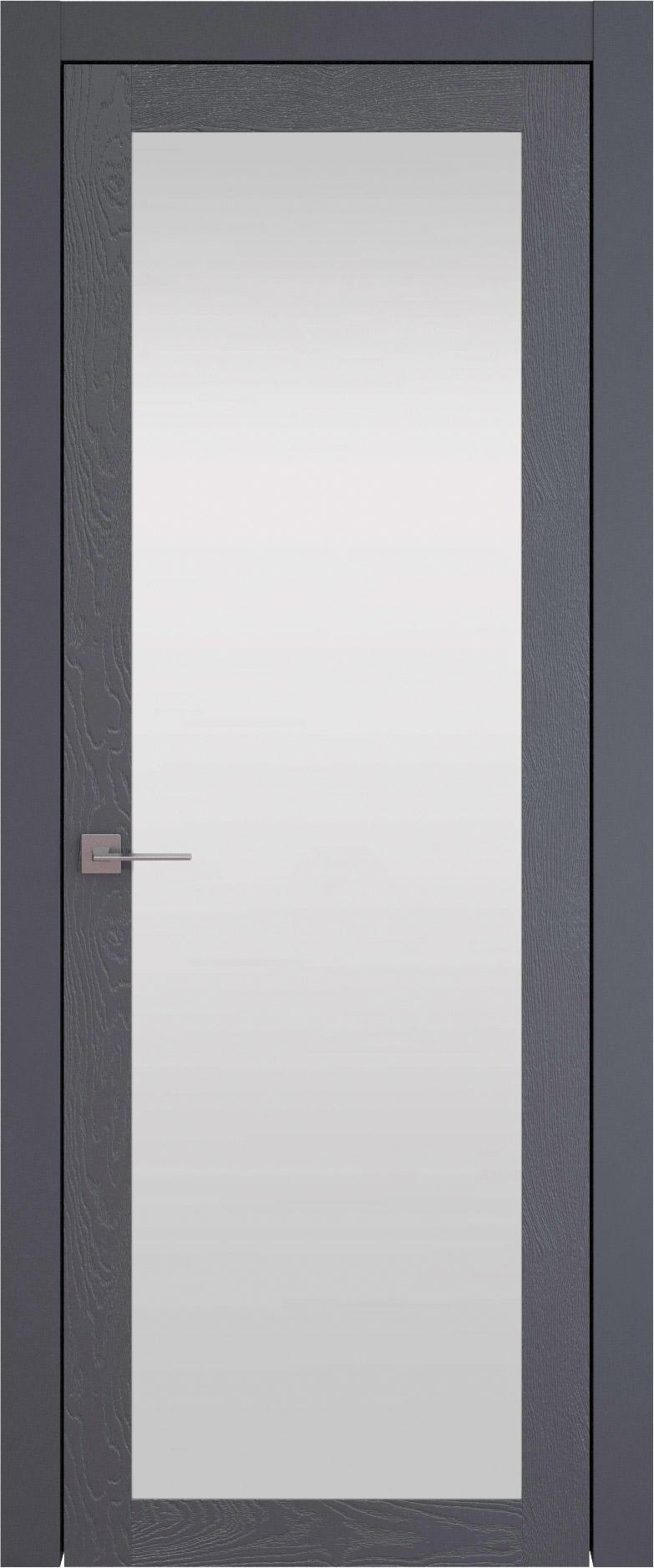 Tivoli З-1 цвет - Графитово-серая эмаль по шпону (RAL 7024) Со стеклом (ДО)