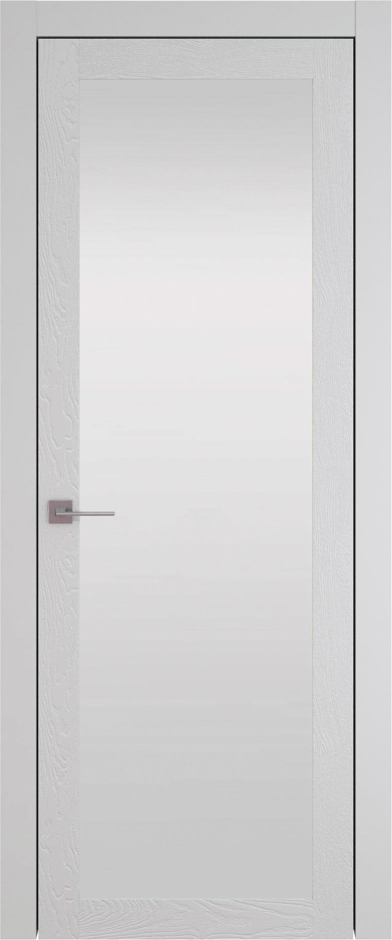 Tivoli З-1 цвет - Серая эмаль по шпону (RAL 7047) Со стеклом (ДО)