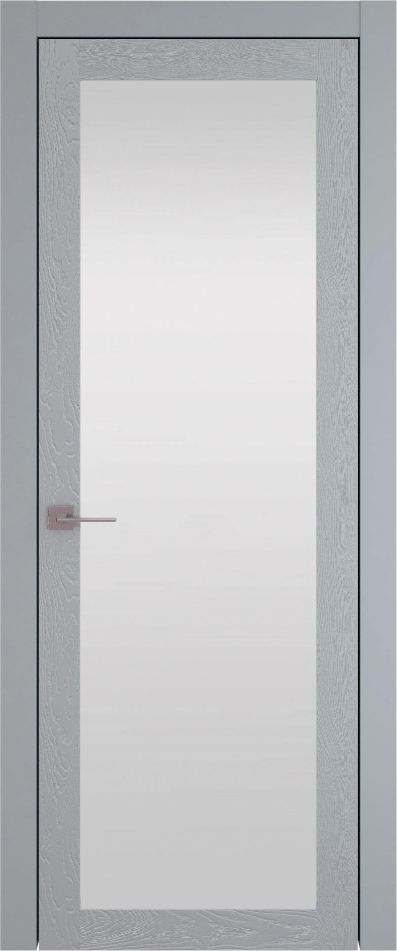 Tivoli З-1 цвет - Серебристо-серая эмаль по шпону (RAL 7045) Со стеклом (ДО)