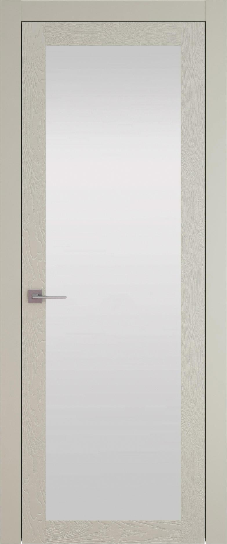 Tivoli З-1 цвет - Серо-оливковая эмаль по шпону (RAL 7032) Со стеклом (ДО)