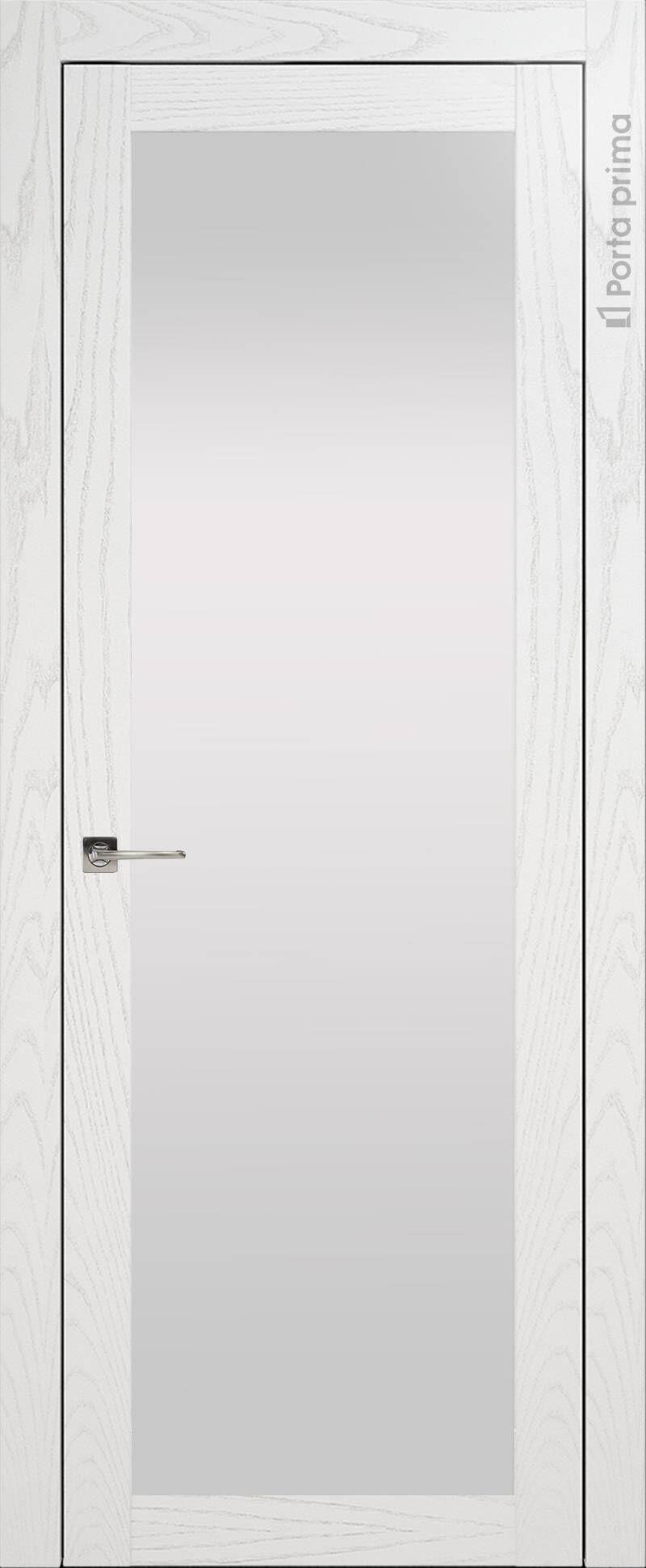 Tivoli З-1 цвет - Белый ясень (шпон) Со стеклом (ДО)