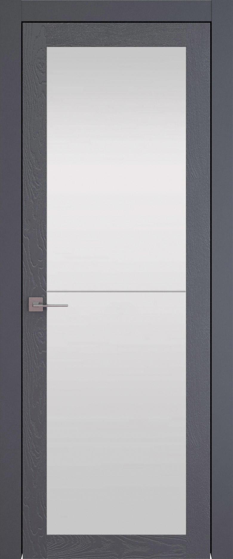 Tivoli З-2 цвет - Графитово-серая эмаль по шпону (RAL 7024) Со стеклом (ДО)