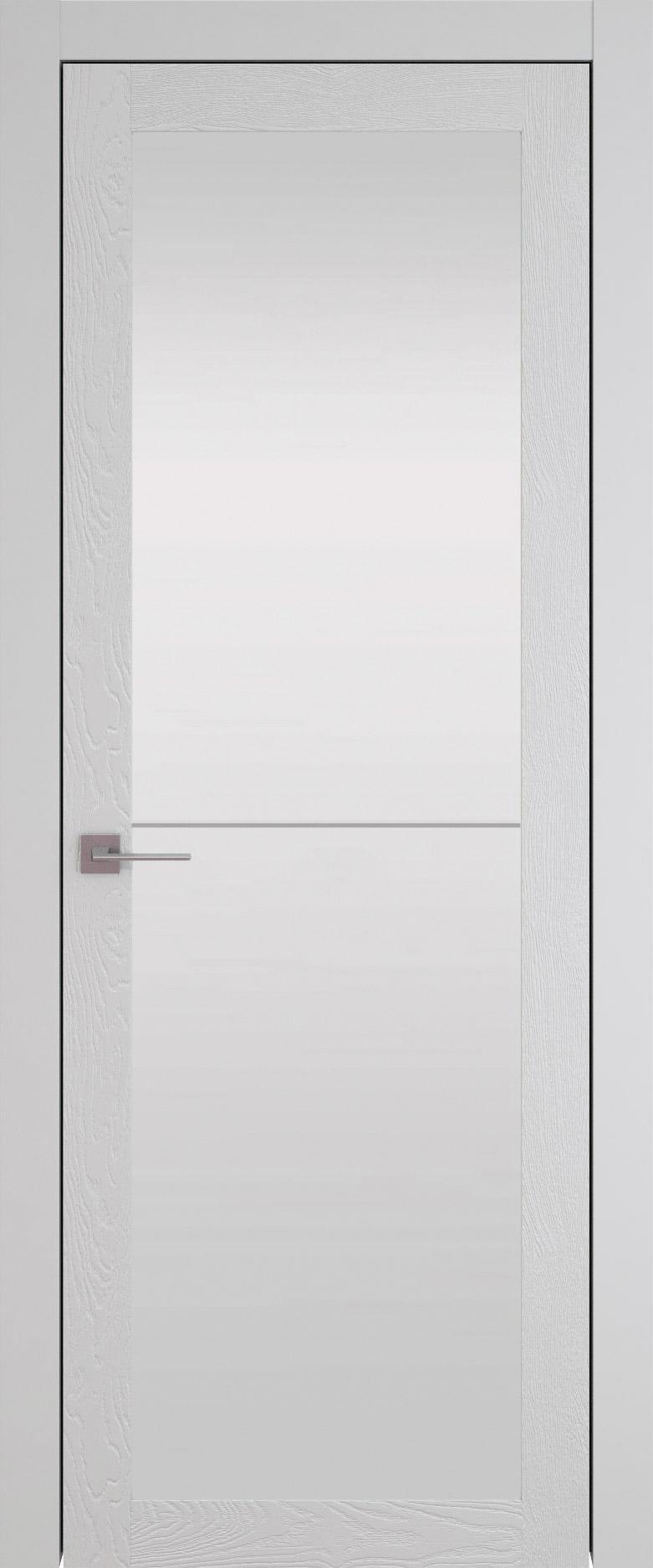Tivoli З-2 цвет - Серая эмаль по шпону (RAL 7047) Со стеклом (ДО)