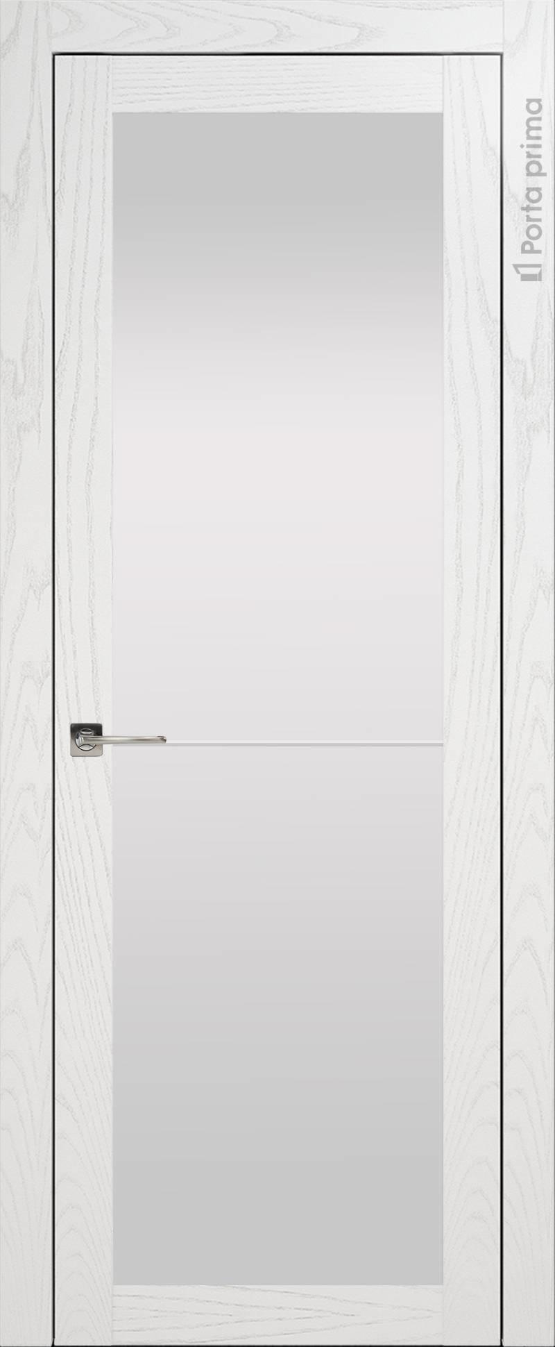Tivoli З-2 цвет - Белый ясень (шпон) Со стеклом (ДО)