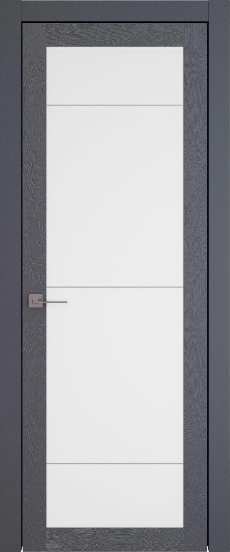 Tivoli З-3 цвет - Графитово-серая эмаль по шпону (RAL 7024) Со стеклом (ДО)