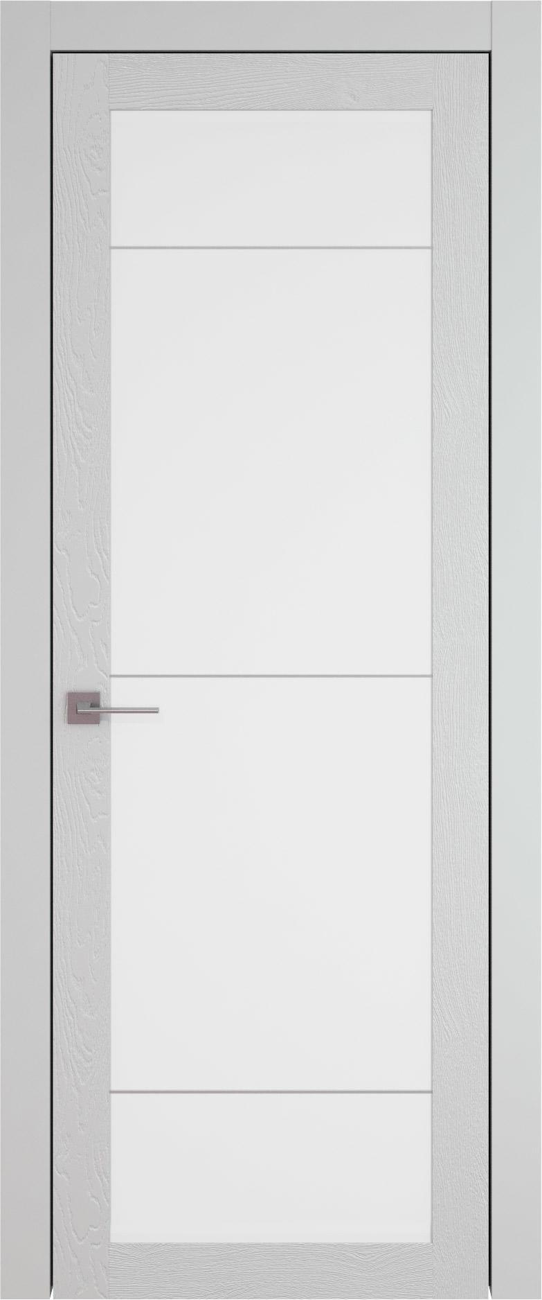 Tivoli З-3 цвет - Серая эмаль по шпону (RAL 7047) Со стеклом (ДО)