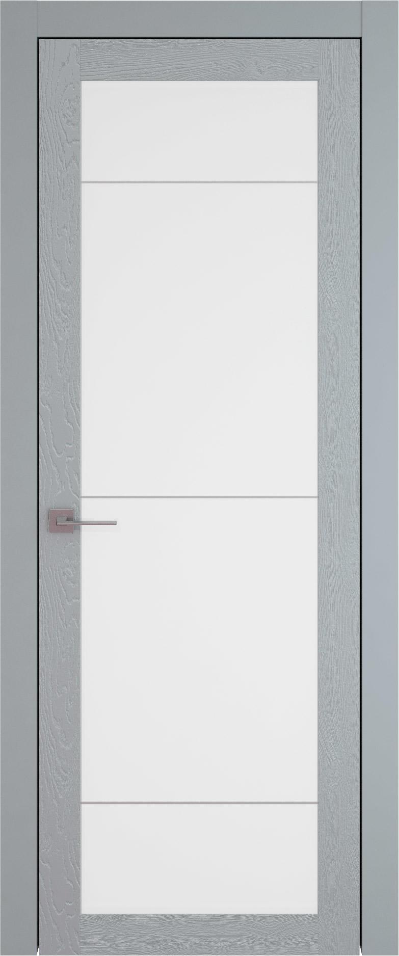 Tivoli З-3 цвет - Серебристо-серая эмаль по шпону (RAL 7045) Со стеклом (ДО)