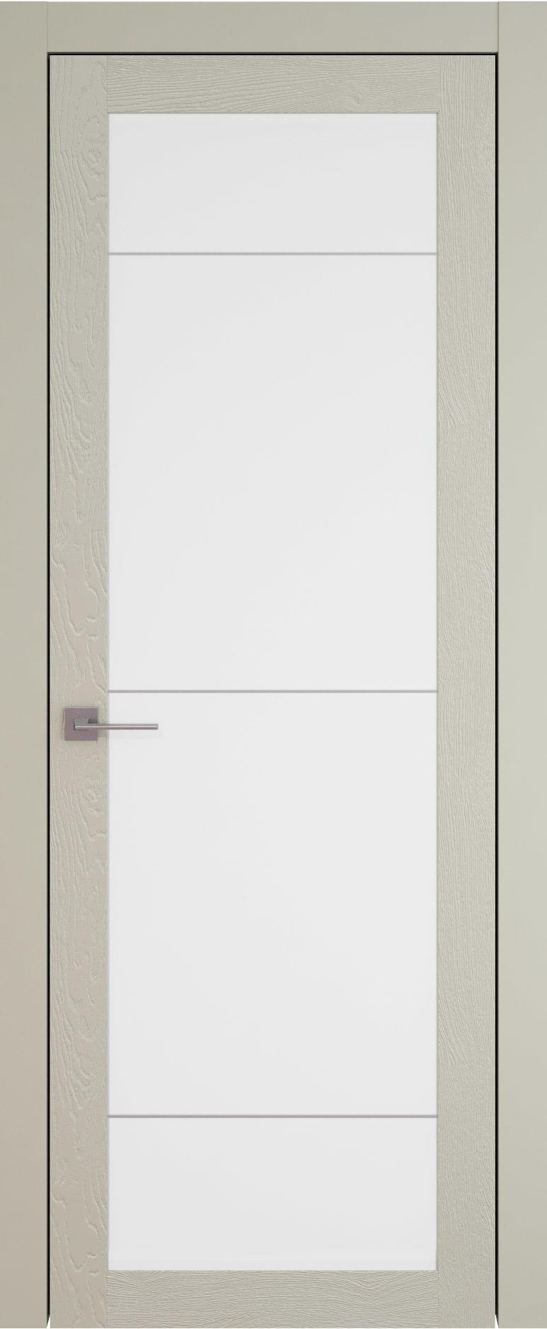 Tivoli З-3 цвет - Серо-оливковая эмаль по шпону (RAL 7032) Со стеклом (ДО)