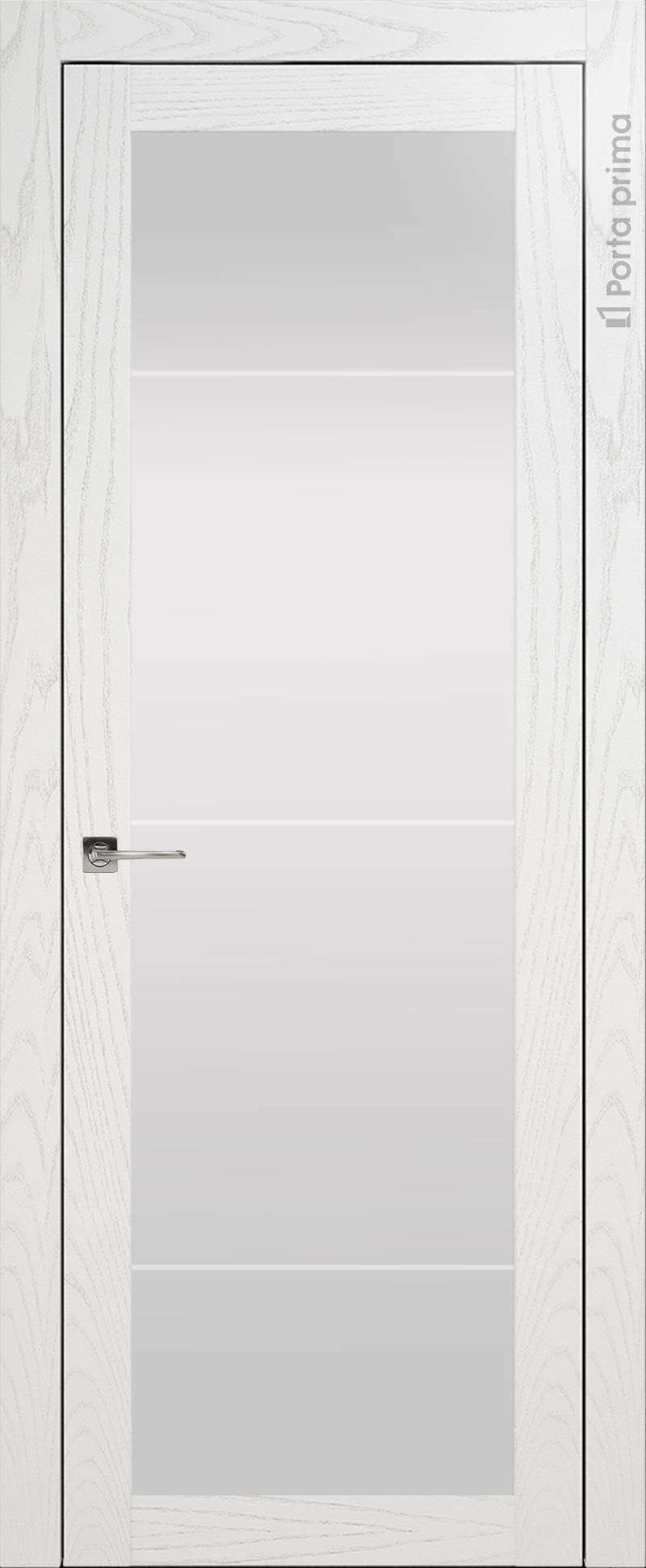 Tivoli З-3 цвет - Белый ясень (шпон) Со стеклом (ДО)