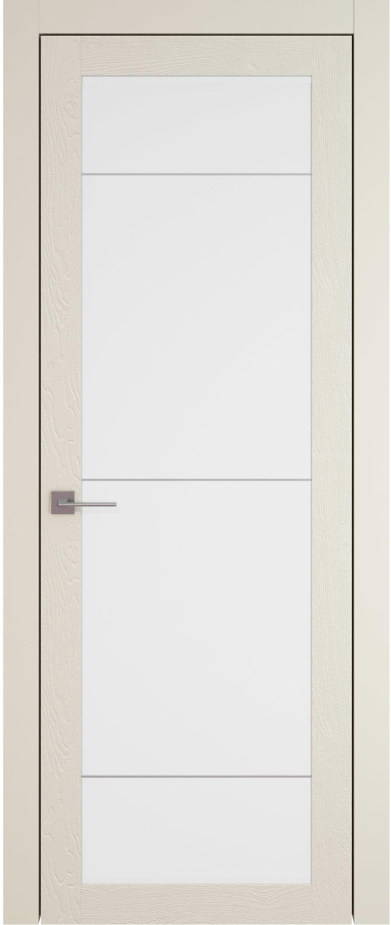 Tivoli З-3 цвет - Жемчужная эмаль по шпону (RAL 1013) Со стеклом (ДО)