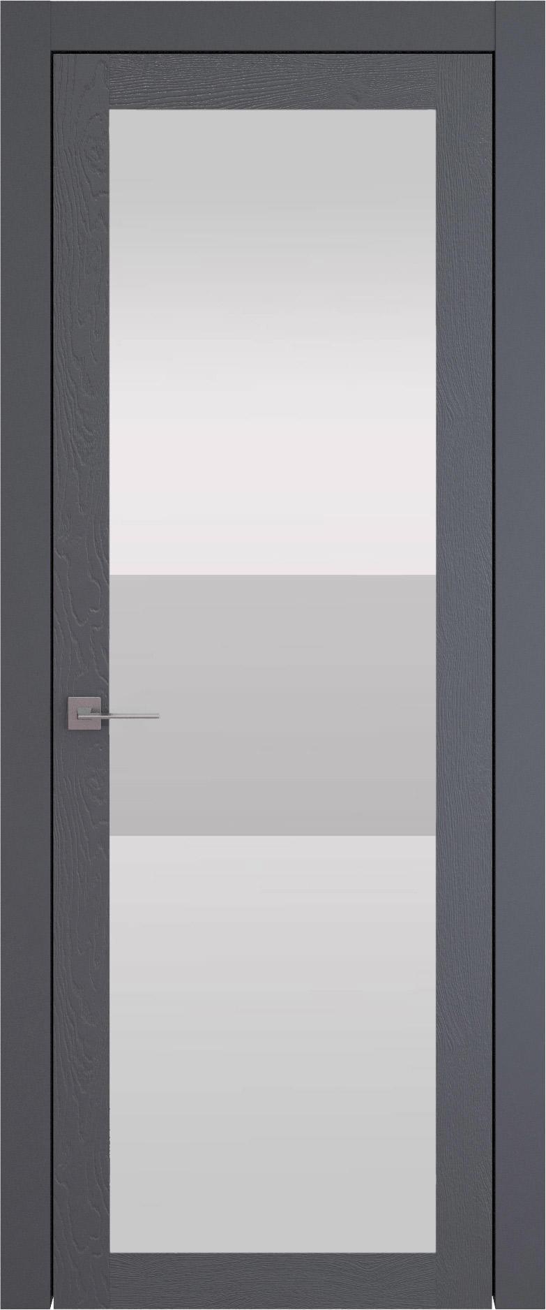 Tivoli З-4 цвет - Графитово-серая эмаль по шпону (RAL 7024) Со стеклом (ДО)