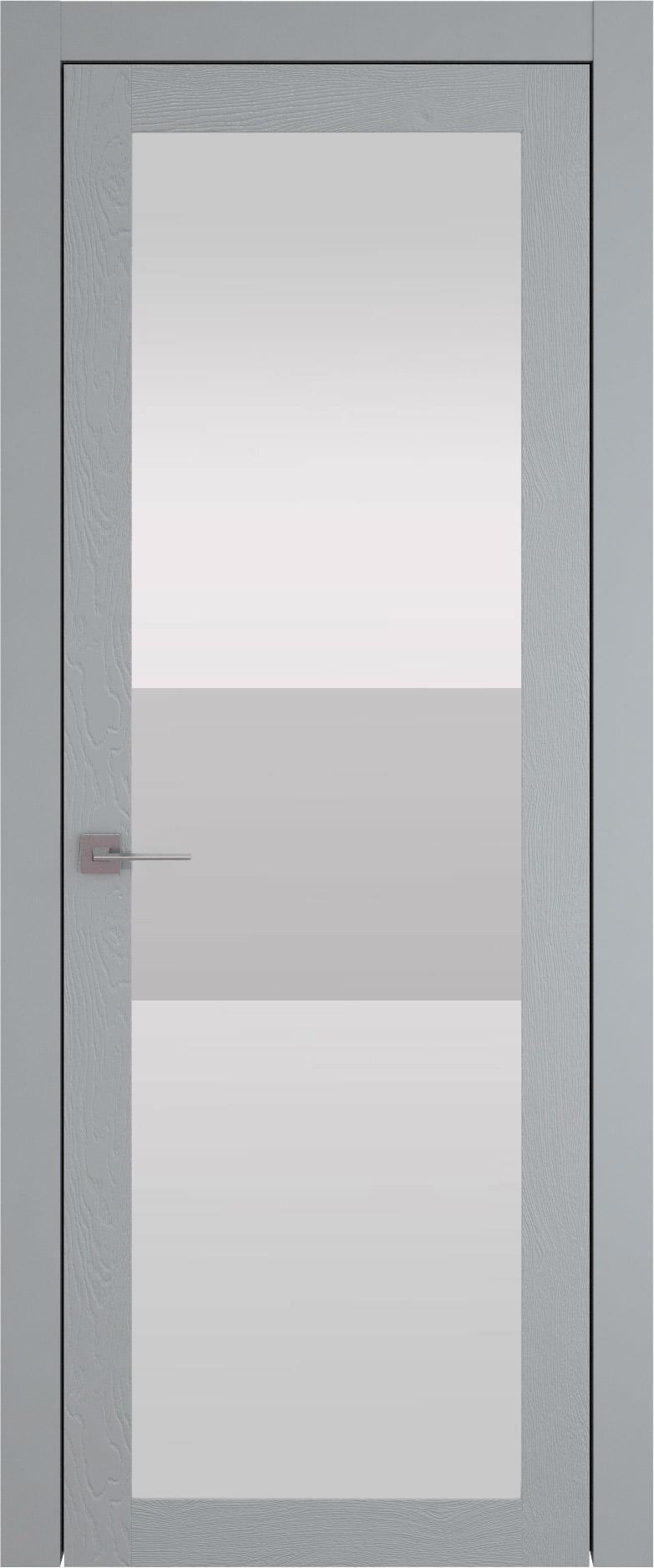Tivoli З-4 цвет - Серебристо-серая эмаль по шпону (RAL 7045) Со стеклом (ДО)