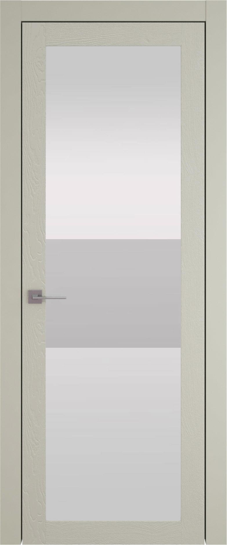 Tivoli З-4 цвет - Серо-оливковая эмаль по шпону (RAL 7032) Со стеклом (ДО)