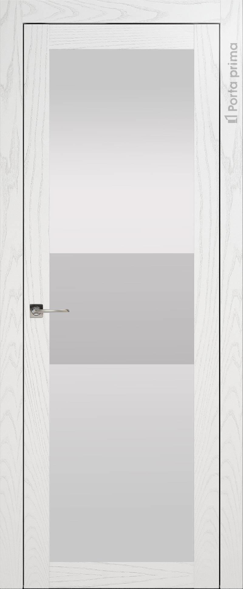 Tivoli З-4 цвет - Белый ясень (шпон) Со стеклом (ДО)