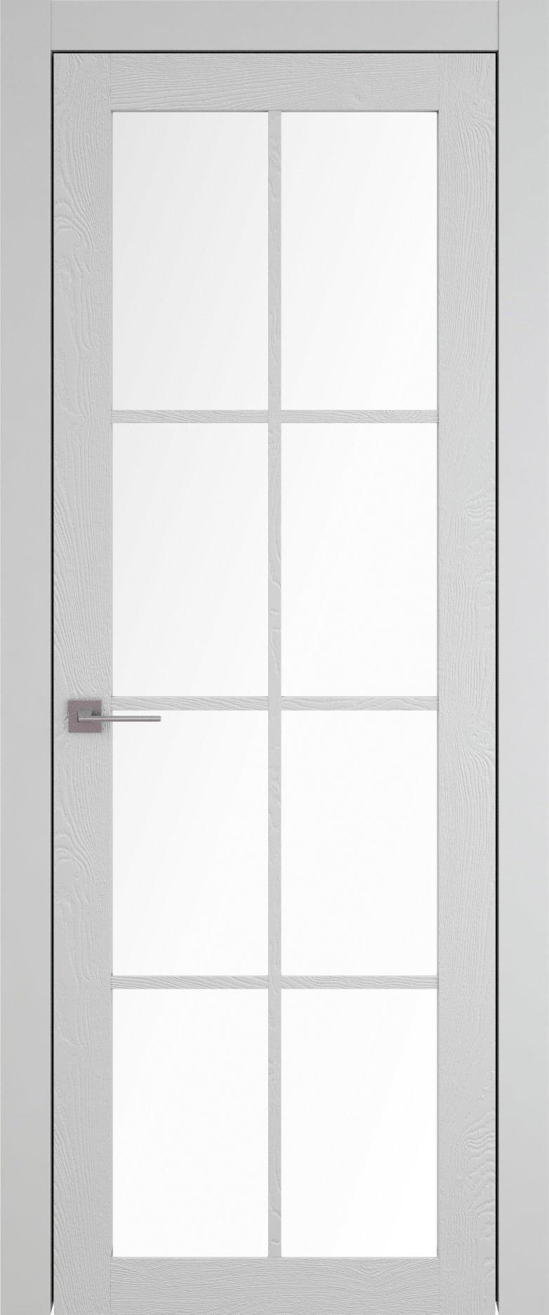Tivoli З-5 цвет - Серая эмаль по шпону (RAL 7047) Со стеклом (ДО)