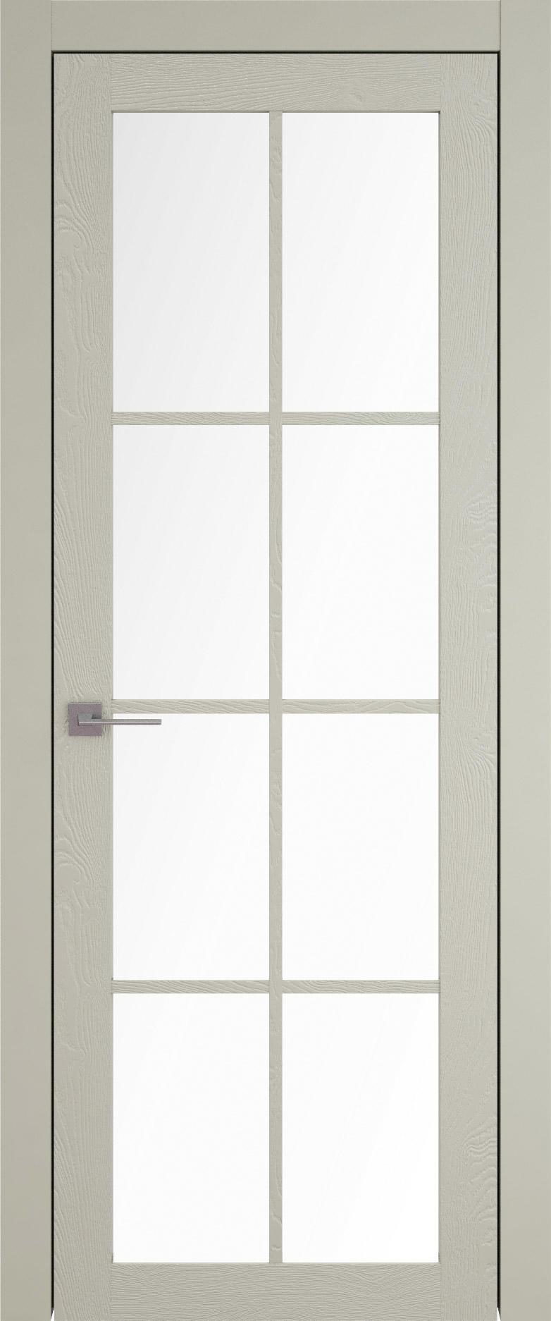 Tivoli З-5 цвет - Серо-оливковая эмаль по шпону (RAL 7032) Со стеклом (ДО)
