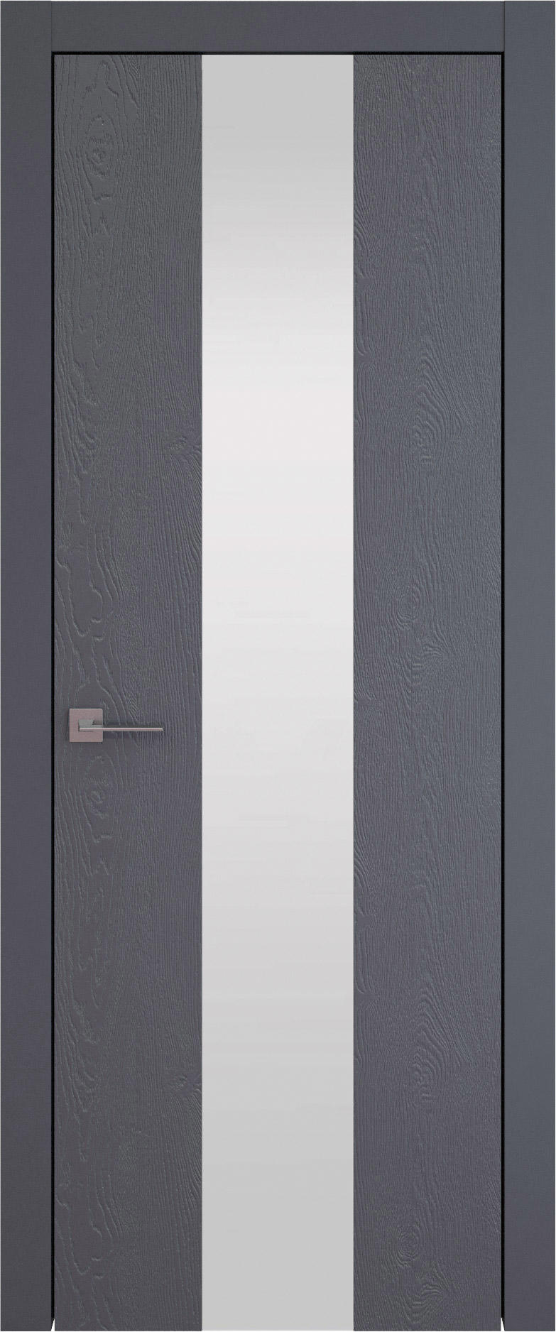 Tivoli Ж-1 цвет - Графитово-серая эмаль по шпону (RAL 7024) Со стеклом (ДО)
