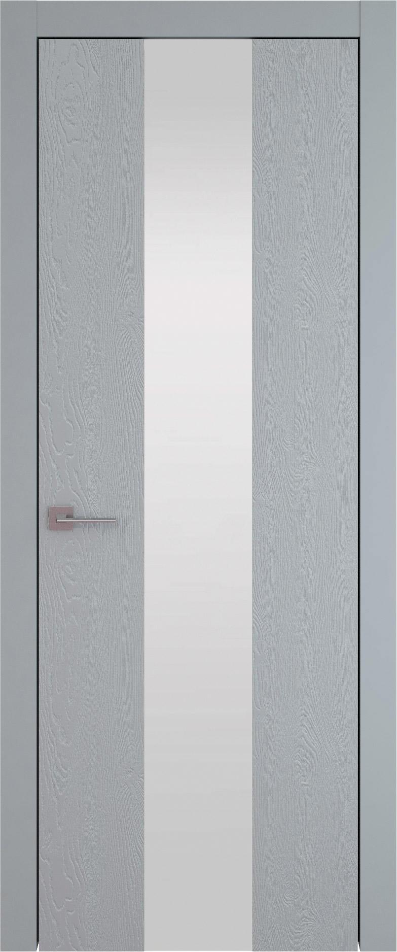 Tivoli Ж-1 цвет - Серебристо-серая эмаль по шпону (RAL 7045) Со стеклом (ДО)