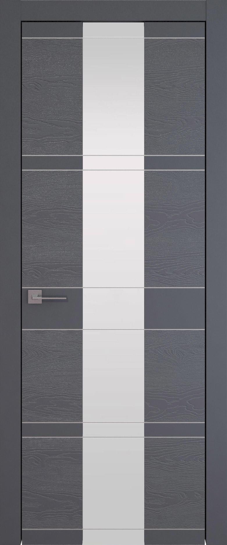 Tivoli Ж-2 цвет - Графитово-серая эмаль-эмаль по шпону (RAL 7024) Со стеклом (ДО)