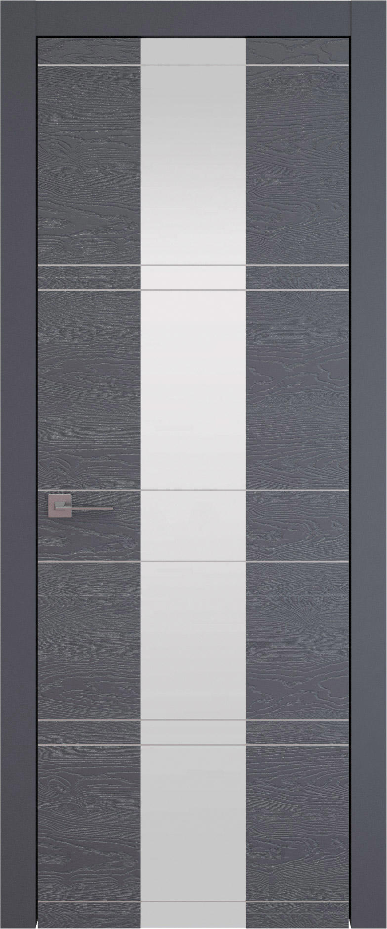 Tivoli Ж-2 цвет - Графитово-серая эмаль по шпону (RAL 7024) Со стеклом (ДО)