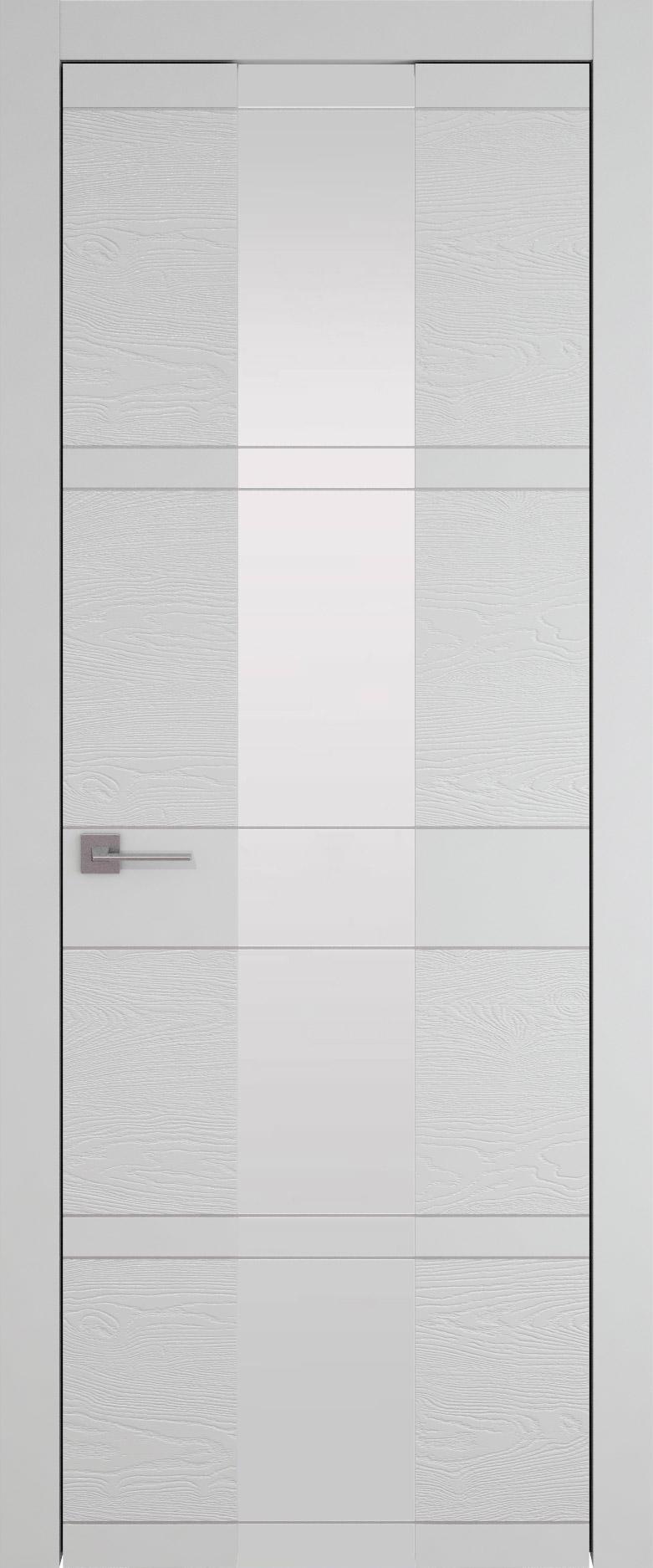 Tivoli Ж-2 цвет - Серая эмаль-эмаль по шпону (RAL 7047) Со стеклом (ДО)