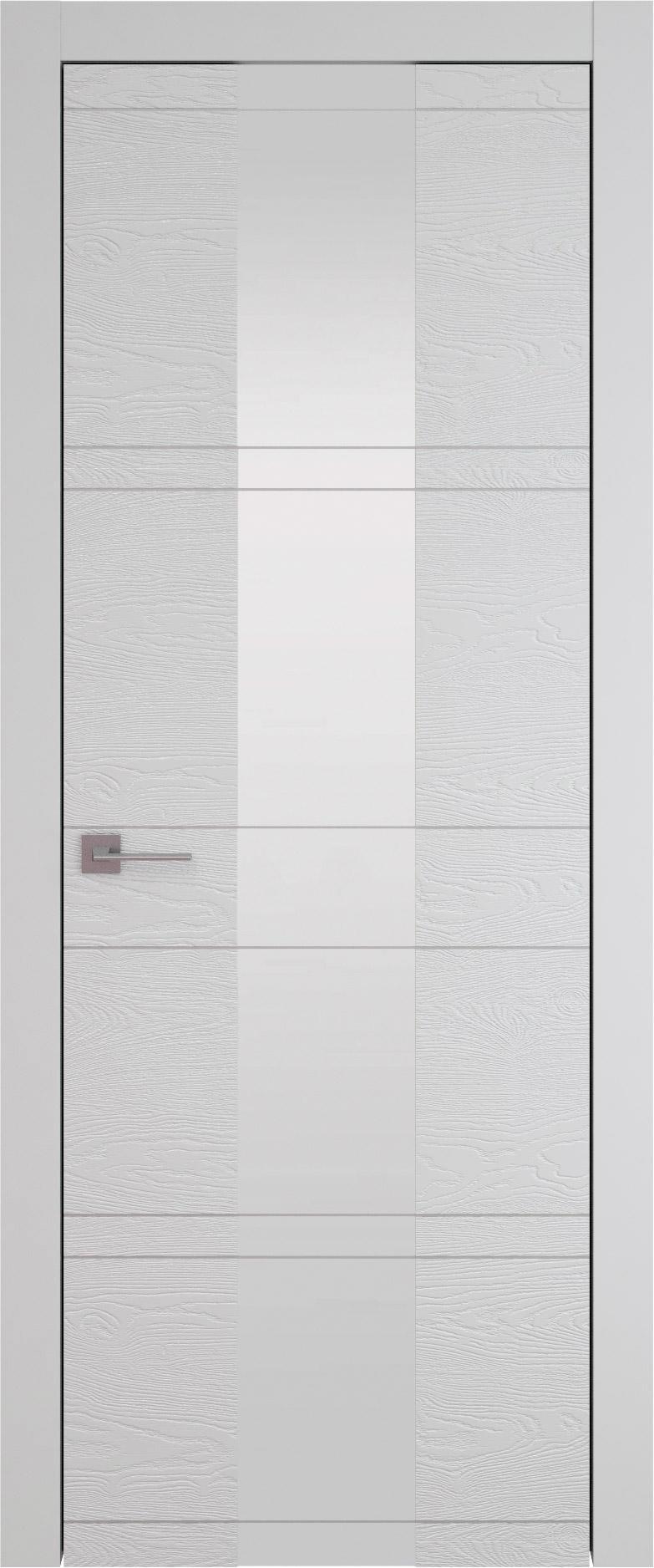 Tivoli Ж-2 цвет - Серая эмаль по шпону (RAL 7047) Со стеклом (ДО)