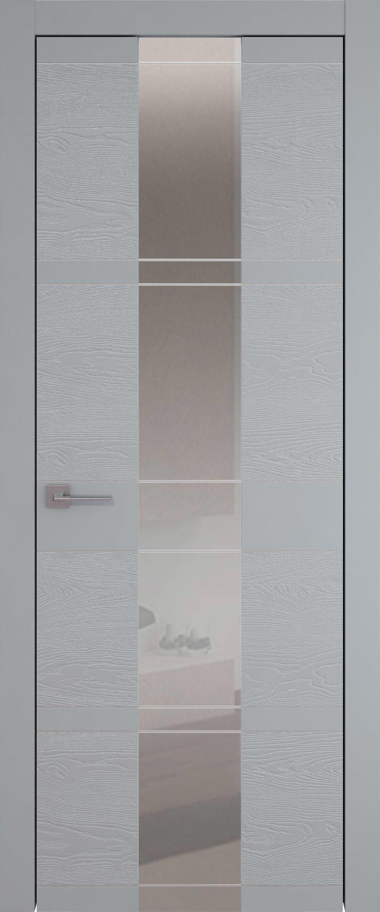Tivoli Ж-2 цвет - Серебристо-серая эмаль-эмаль по шпону (RAL 7045) Со стеклом (ДО)