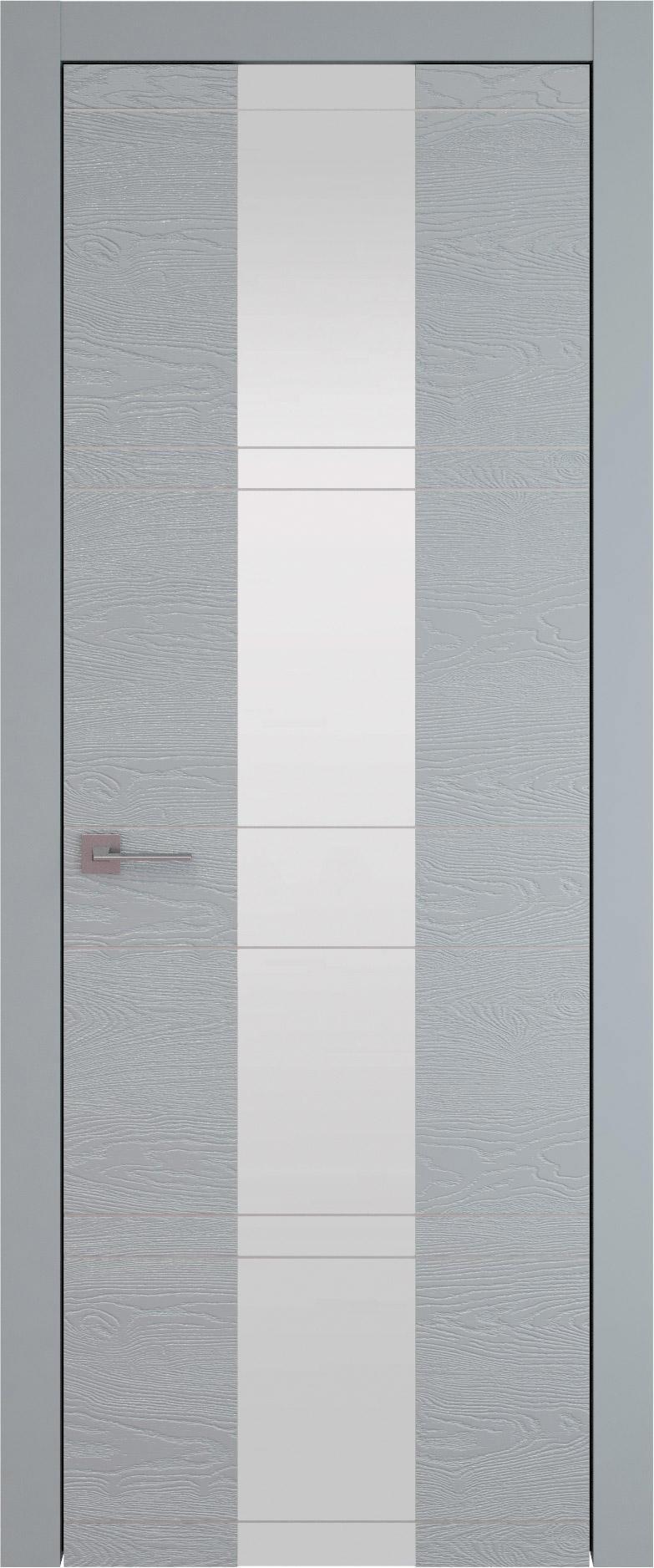 Tivoli Ж-2 цвет - Серебристо-серая эмаль по шпону (RAL 7045) Со стеклом (ДО)