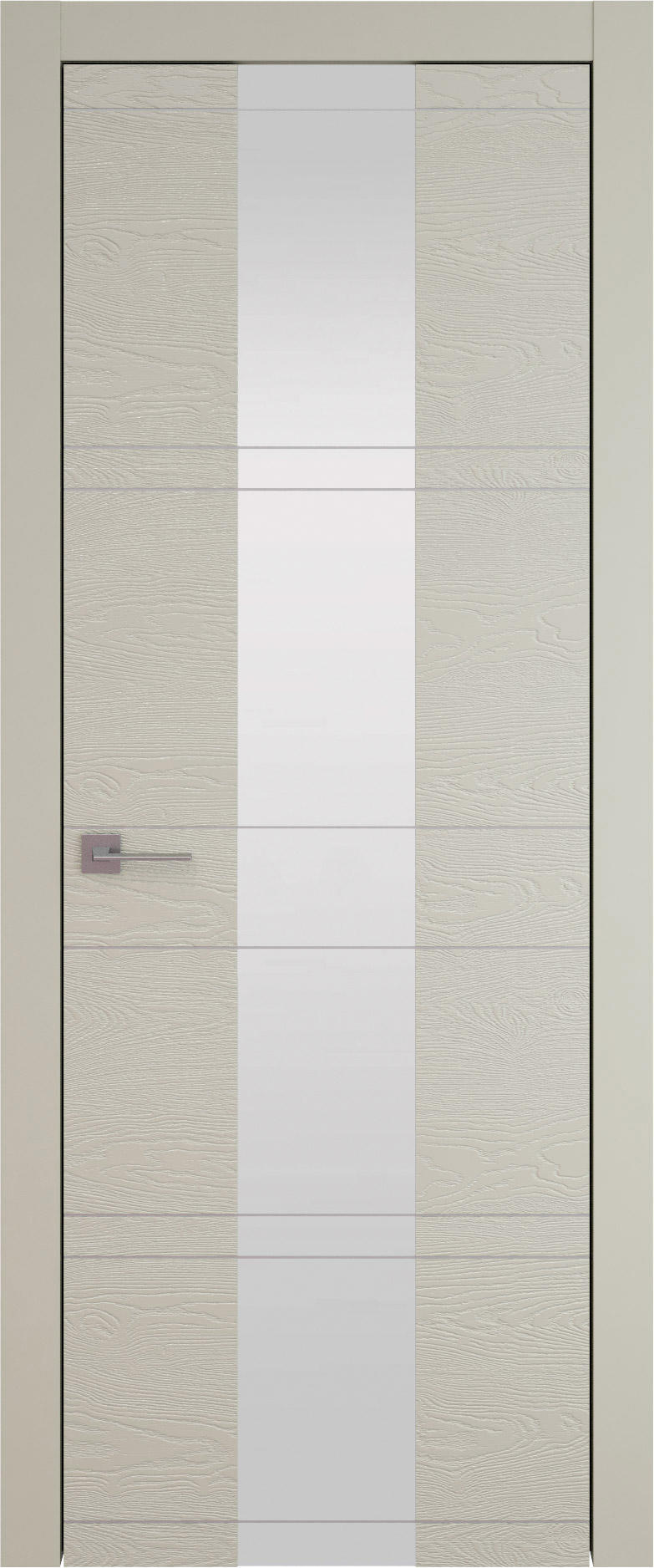 Tivoli Ж-2 цвет - Серо-оливковая эмаль по шпону (RAL 7032) Со стеклом (ДО)