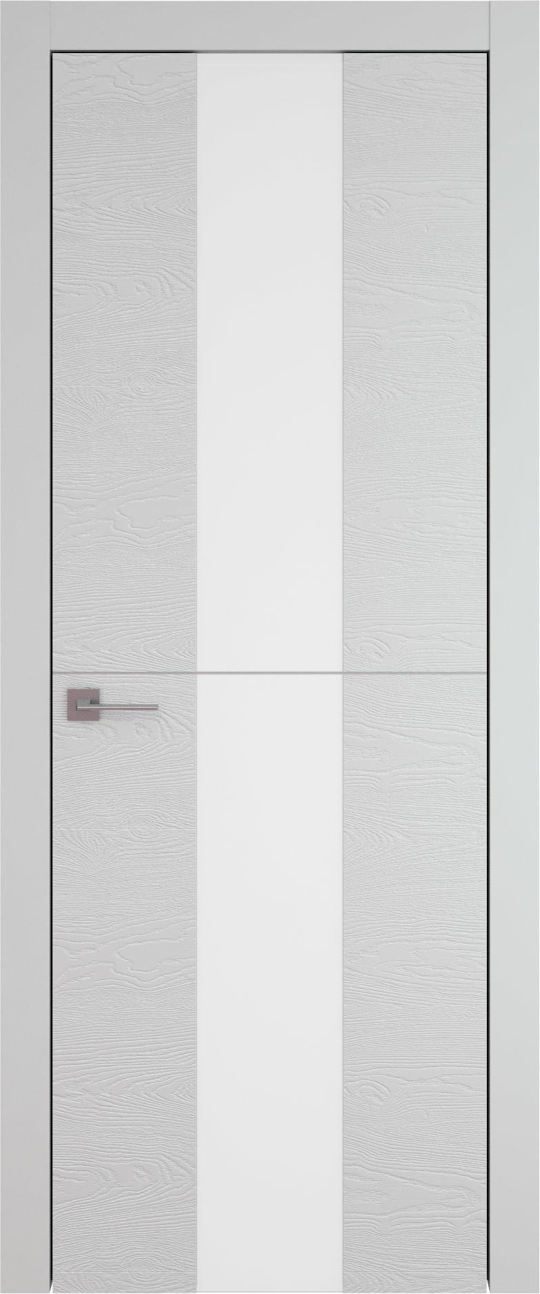 Tivoli Ж-3 цвет - Серая эмаль по шпону (RAL 7047) Со стеклом (ДО)