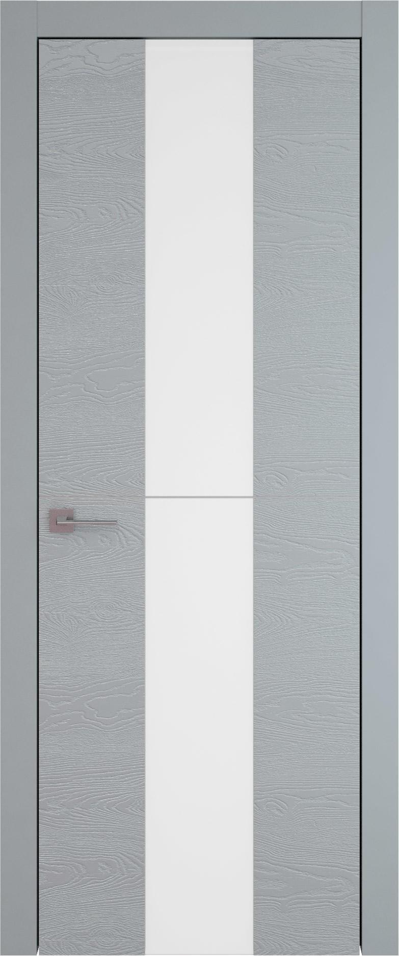 Tivoli Ж-3 цвет - Серебристо-серая эмаль по шпону (RAL 7045) Со стеклом (ДО)