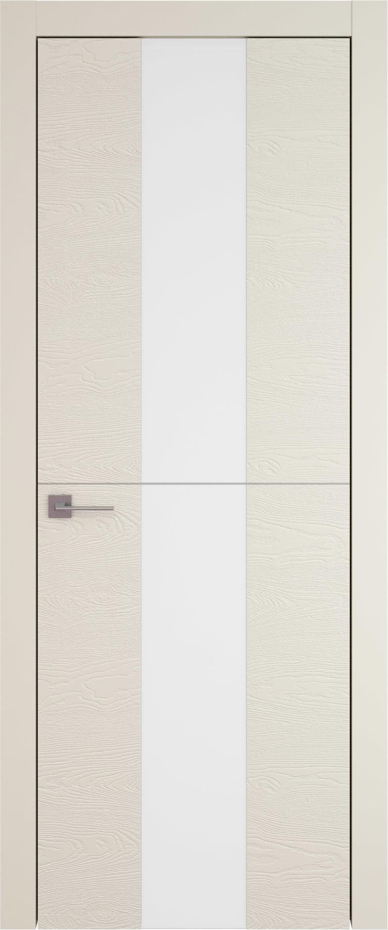 Tivoli Ж-3 цвет - Жемчужная эмаль по шпону (RAL 1013) Со стеклом (ДО)