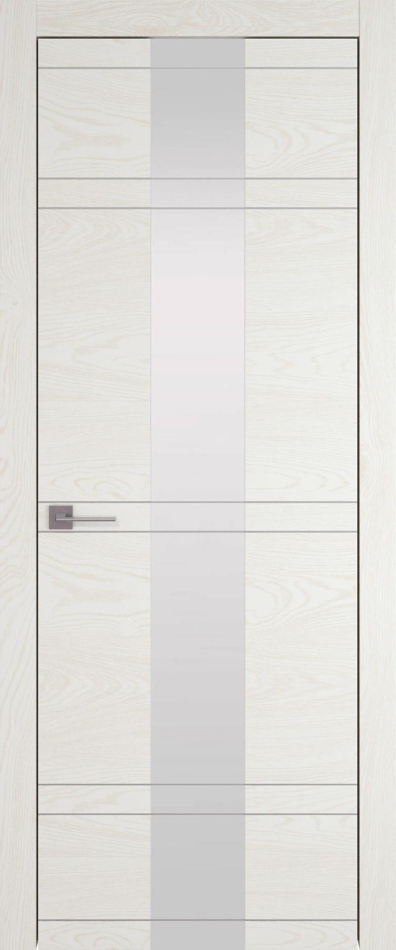 Tivoli Ж-4 цвет - Белый ясень (nano-flex) Со стеклом (ДО)