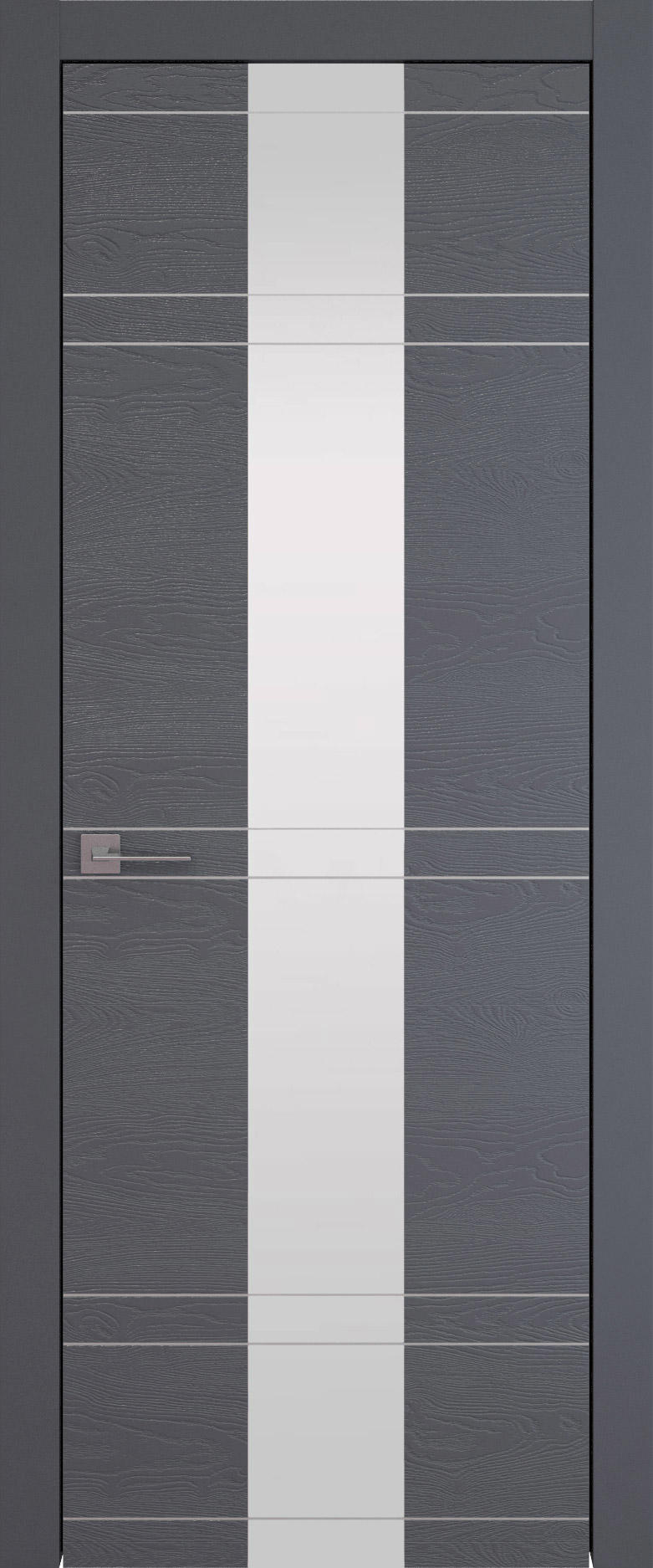 Tivoli Ж-4 цвет - Графитово-серая эмаль по шпону (RAL 7024) Со стеклом (ДО)
