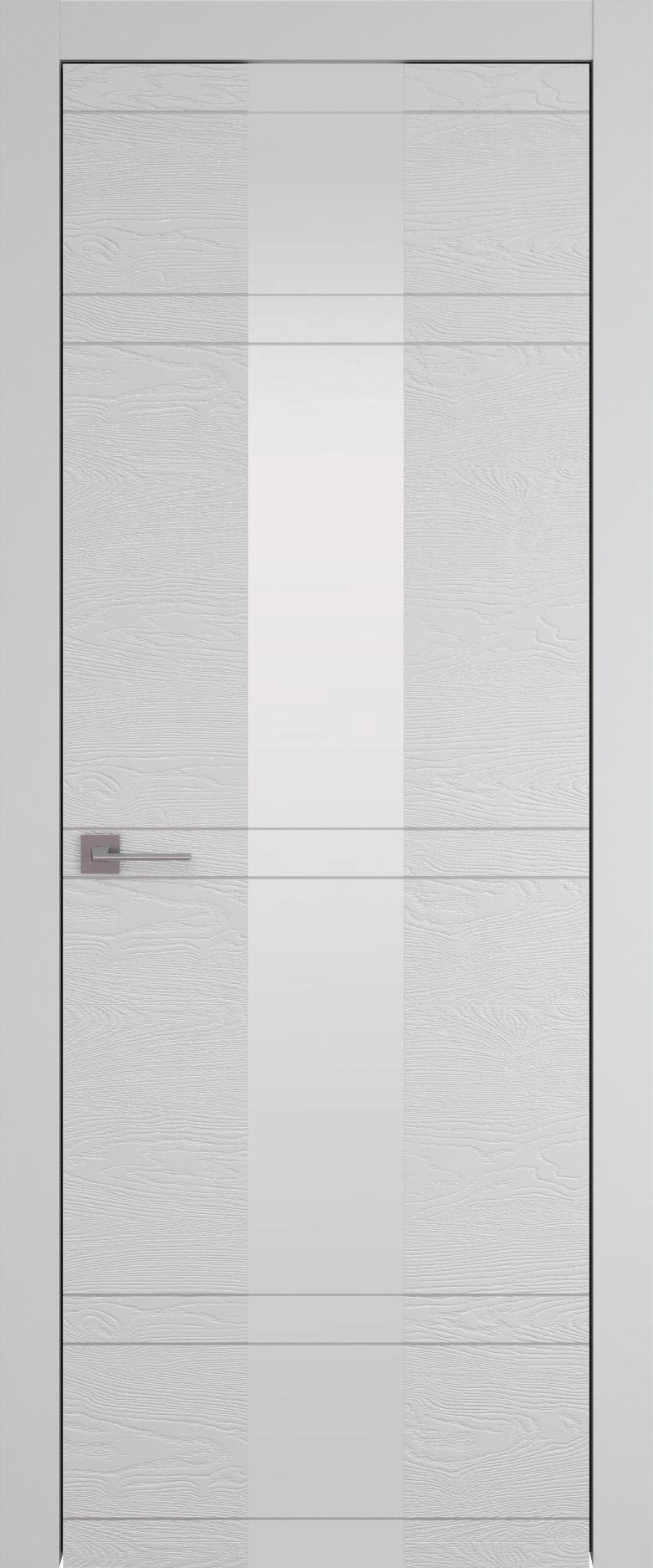 Tivoli Ж-4 цвет - Серая эмаль по шпону (RAL 7047) Со стеклом (ДО)