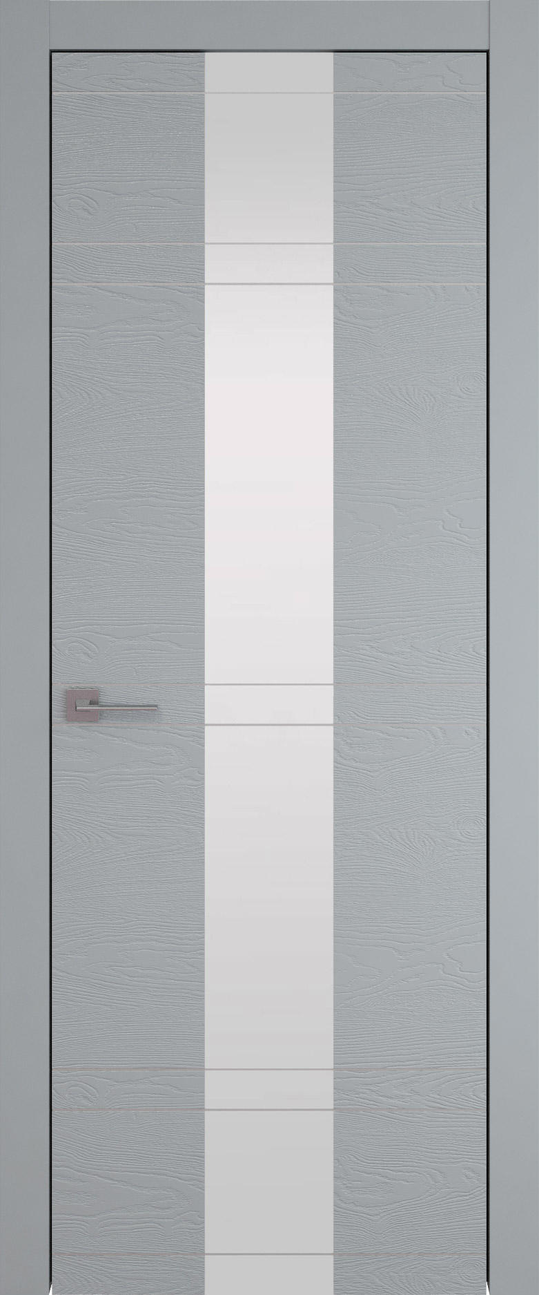 Tivoli Ж-4 цвет - Серебристо-серая эмаль по шпону (RAL 7045) Со стеклом (ДО)