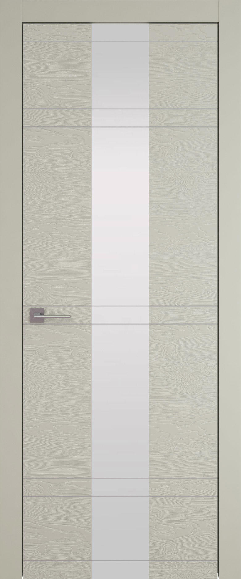 Tivoli Ж-4 цвет - Серо-оливковая эмаль по шпону (RAL 7032) Со стеклом (ДО)