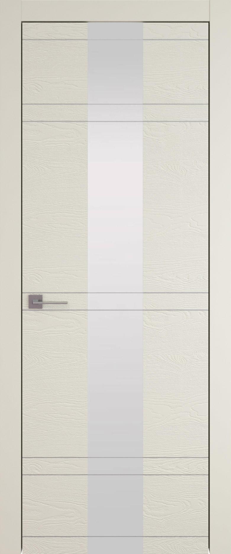 Tivoli Ж-4 цвет - Жемчужная эмаль по шпону (RAL 1013) Со стеклом (ДО)