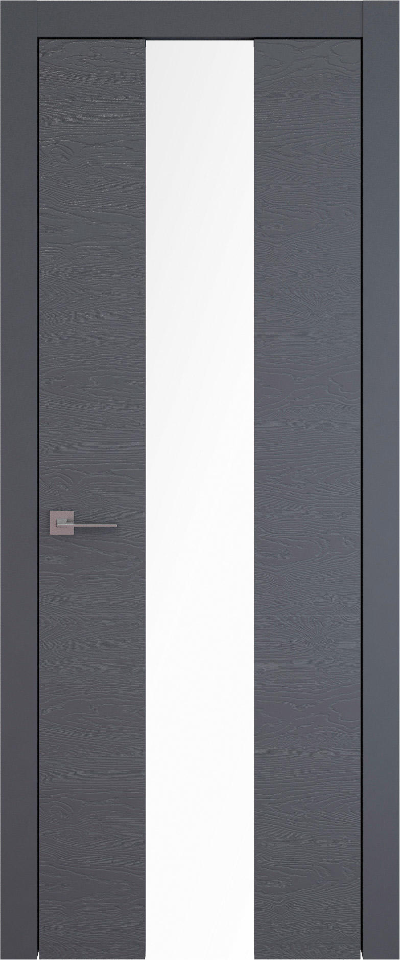 Tivoli Ж-5 цвет - Графитово-серая эмаль по шпону (RAL 7024) Со стеклом (ДО)