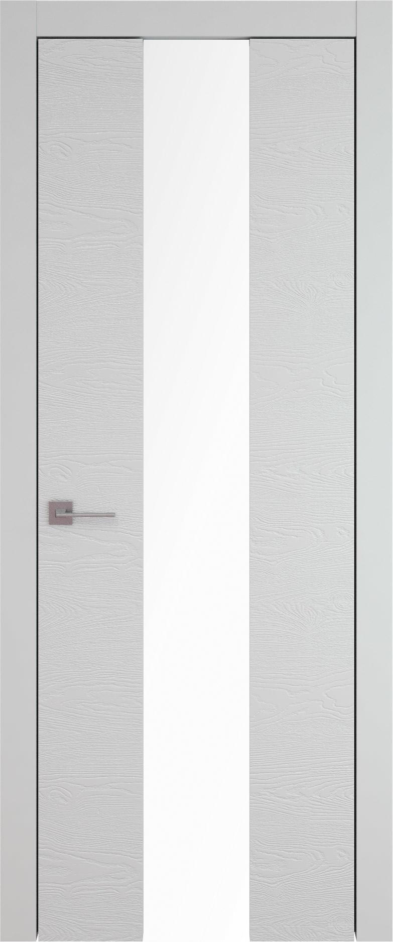 Tivoli Ж-5 цвет - Серая эмаль по шпону (RAL 7047) Со стеклом (ДО)